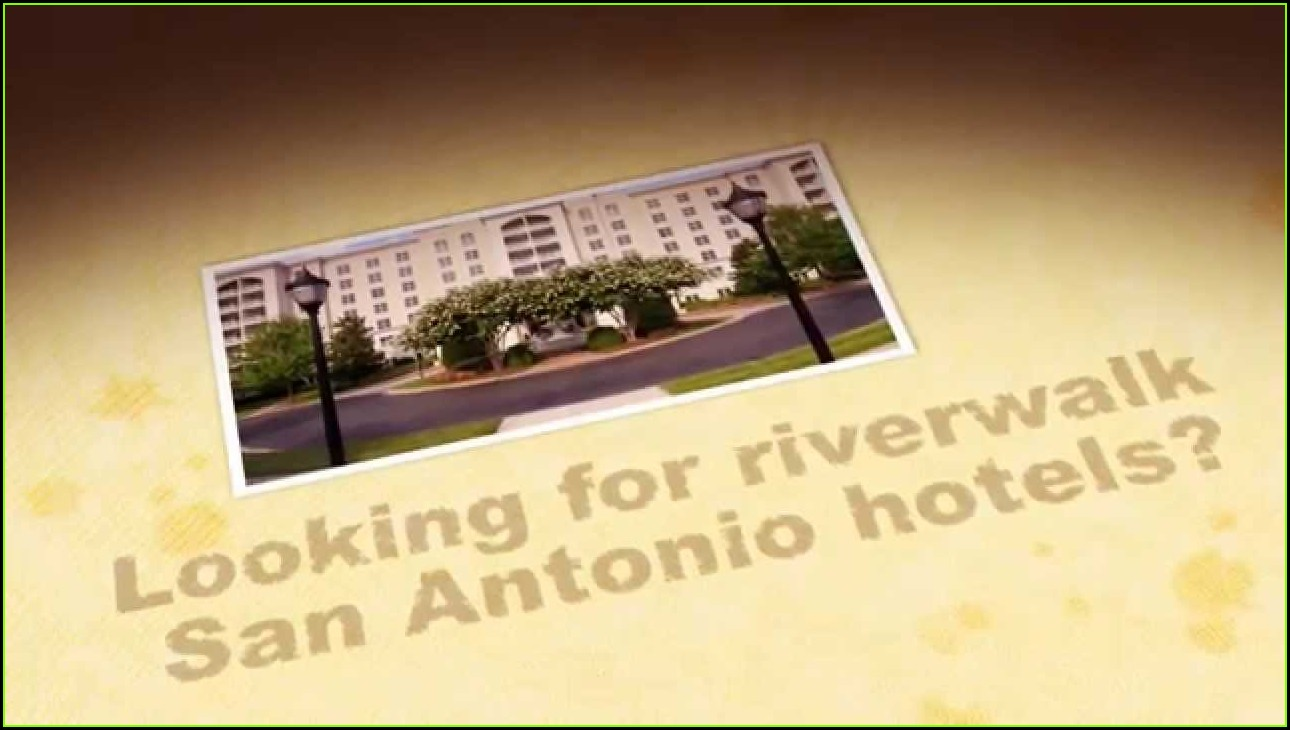Map San Antonio Riverwalk Hotels