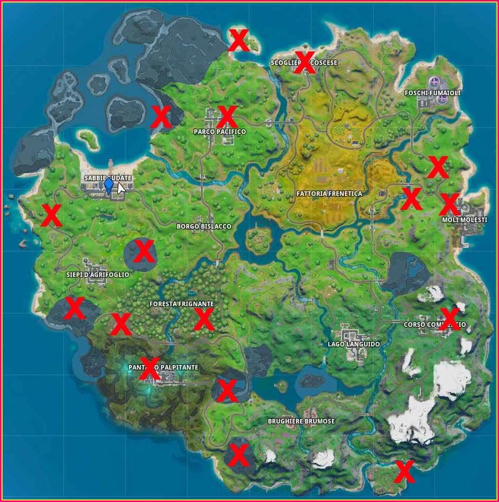 Mappa Di Fortnite Capitolo 2 Season 2 Da Stampare