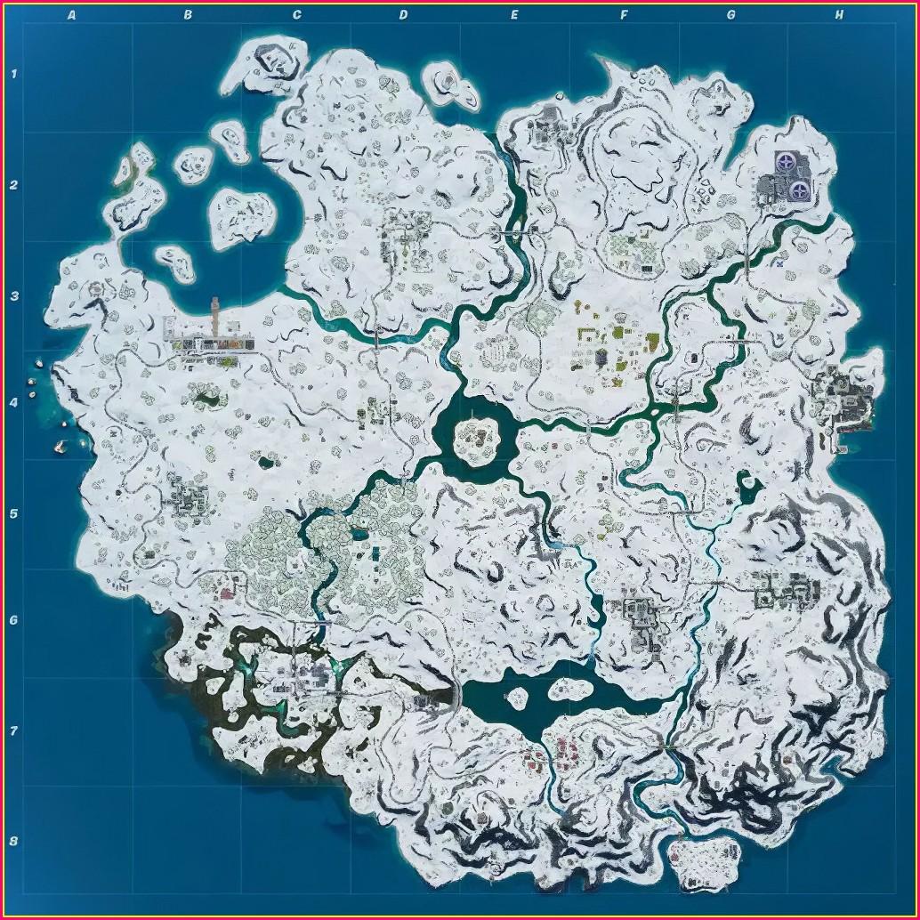 Mappa Di Fortnite Season 2 Stagione 2
