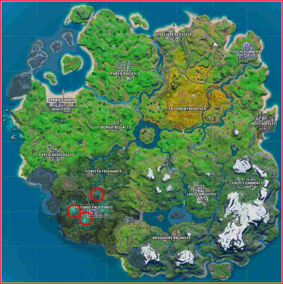 Mappa Fortnite Season 2 Italiano