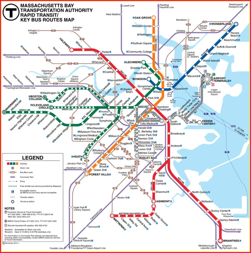 Mbta Bus Map Pdf