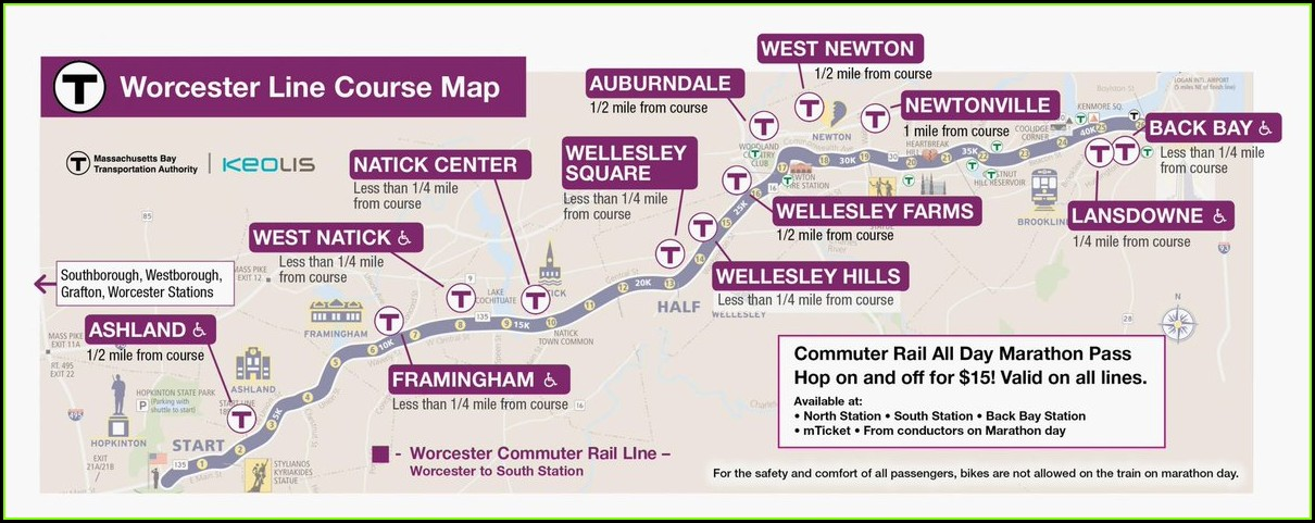 Mbta Commuter Rail Map Worcester