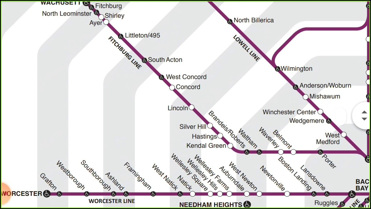 Mbta Commuter Rail Zone Map
