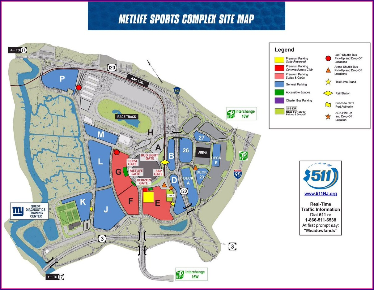 Metlife Stadium Parking Lot Map