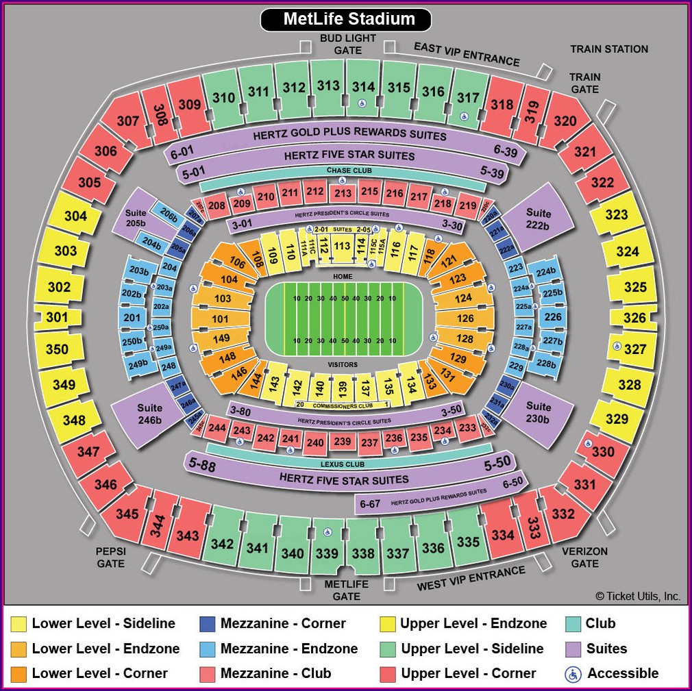 Metlife Stadium Suite Map