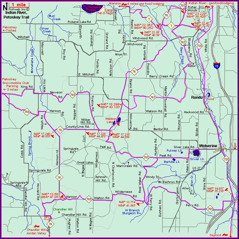 Michigan Snowmobile Trail Maps With Mileage