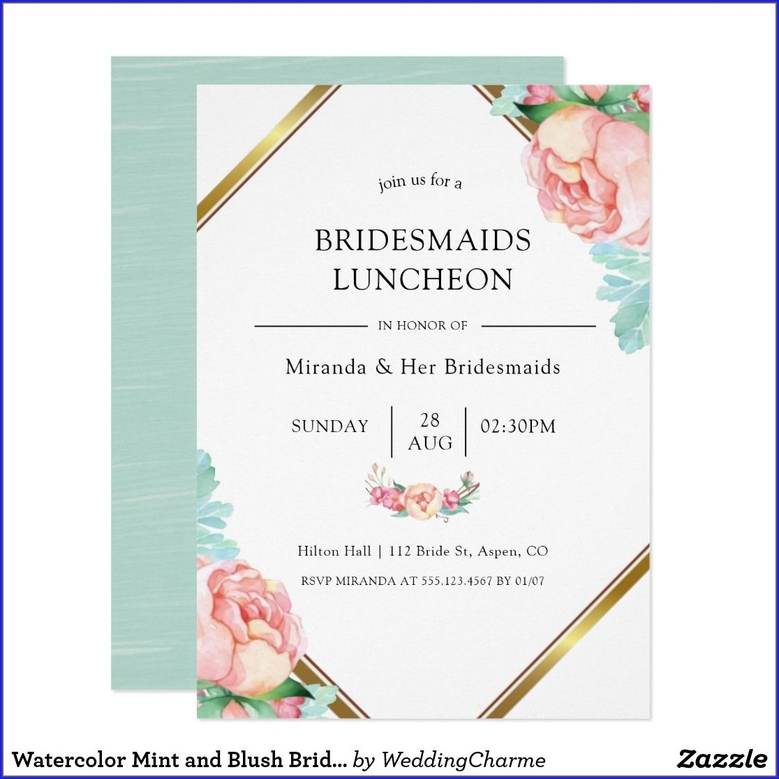 Minted Bridesmaid Luncheon Invitations