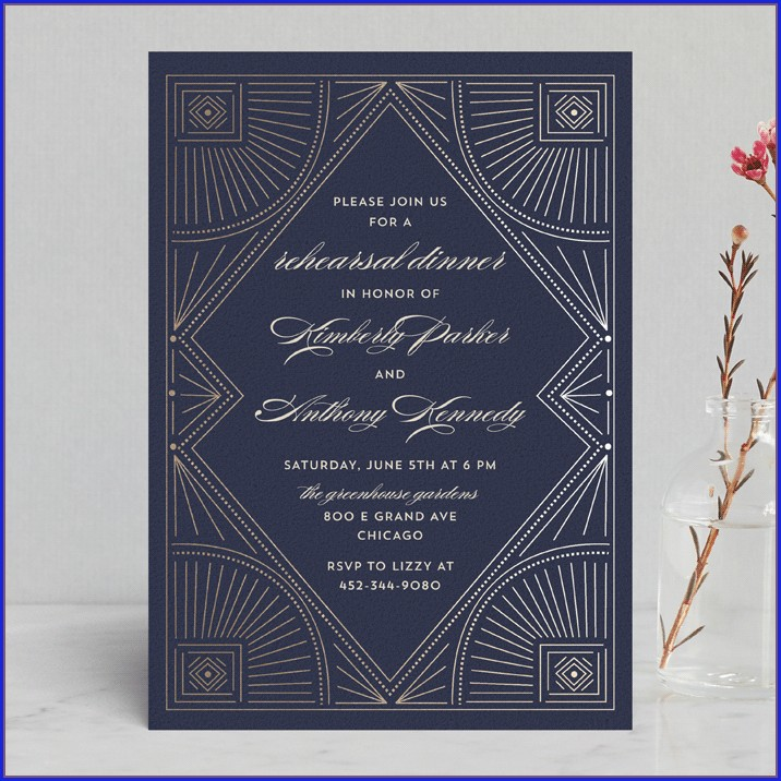 Minted Wedding Rehearsal Invitations