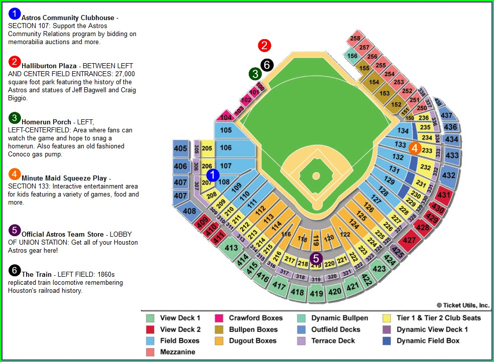 Minute Maid Park Seating Map With Rows
