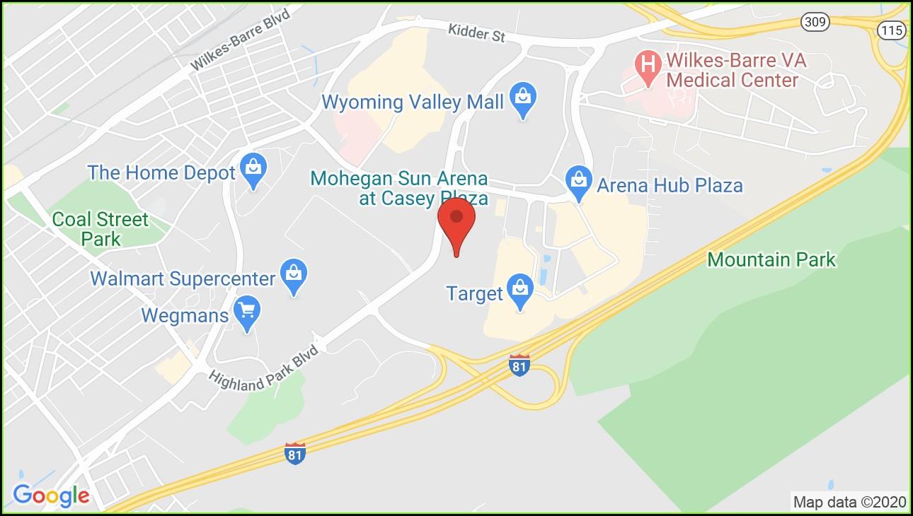 Mohegan Sun Arena Map