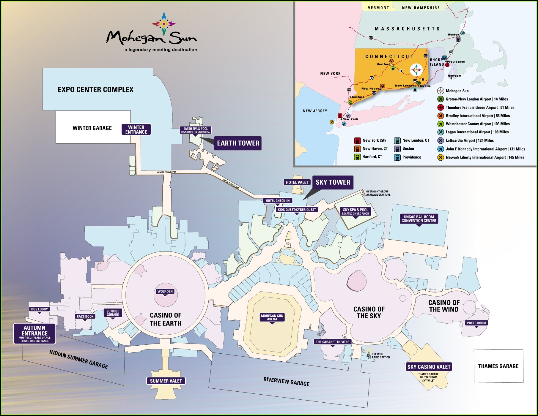 Mohegan Sun Property Map 2019