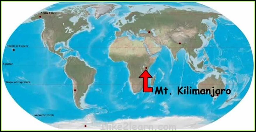 Mt Kilimanjaro Location Map