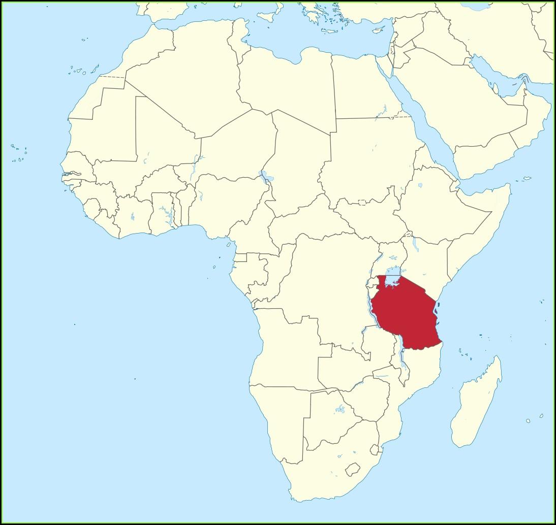 Mt Kilimanjaro On World Map