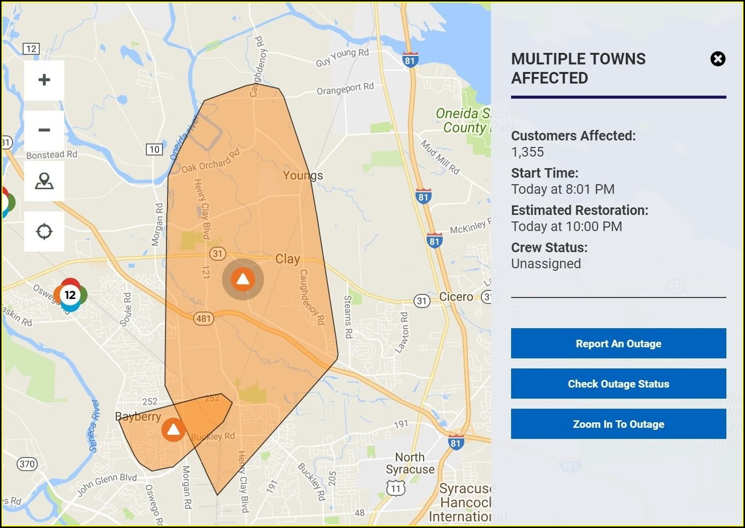 National Grid Power Outage Map Liverpool Ny