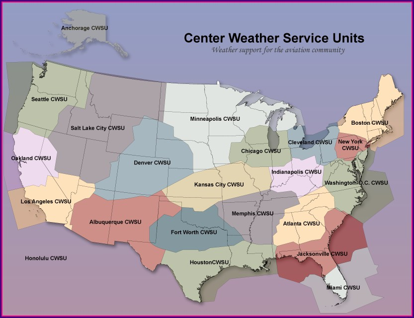 National Weather Service Regions Map
