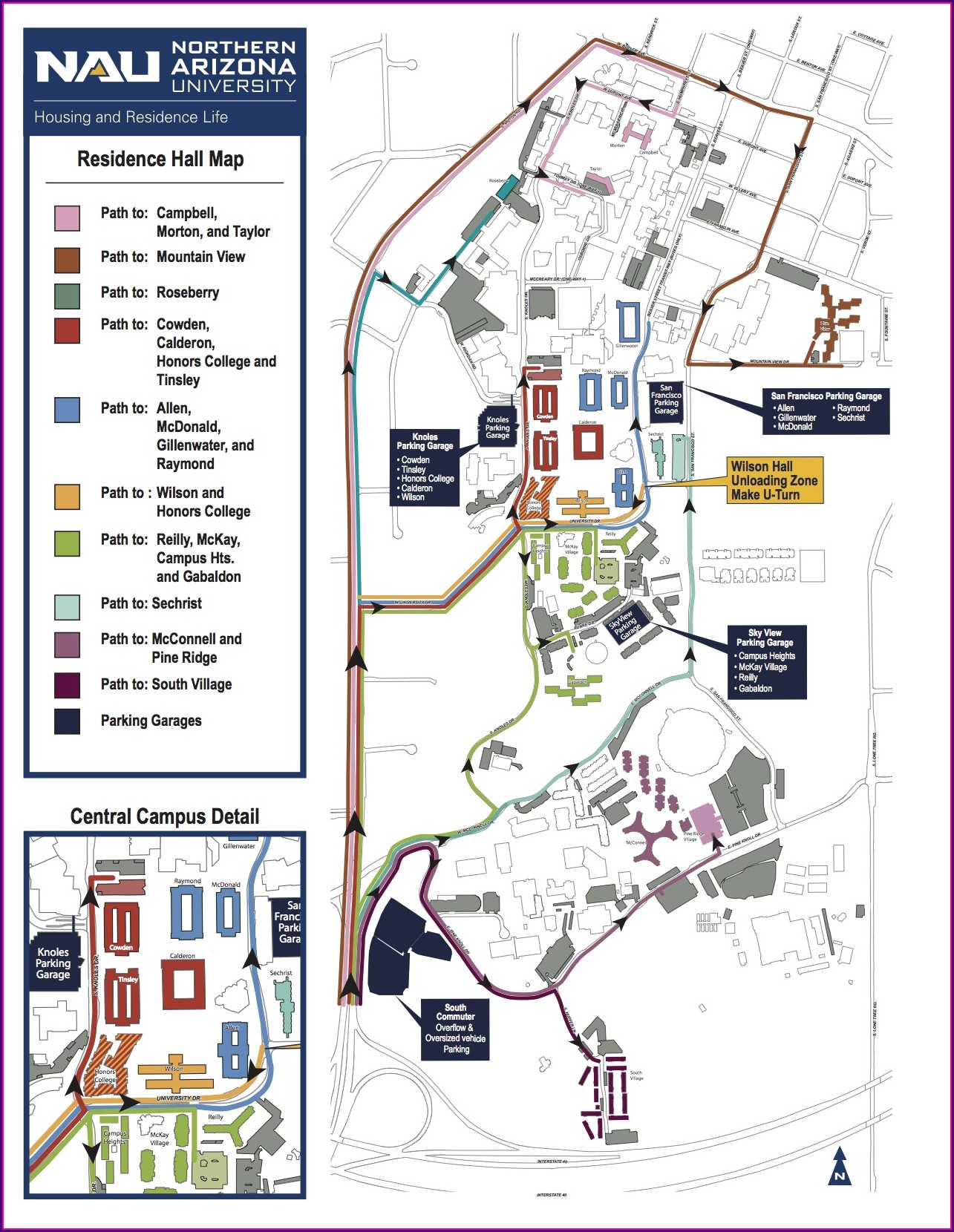 Nau Campus Map 2018