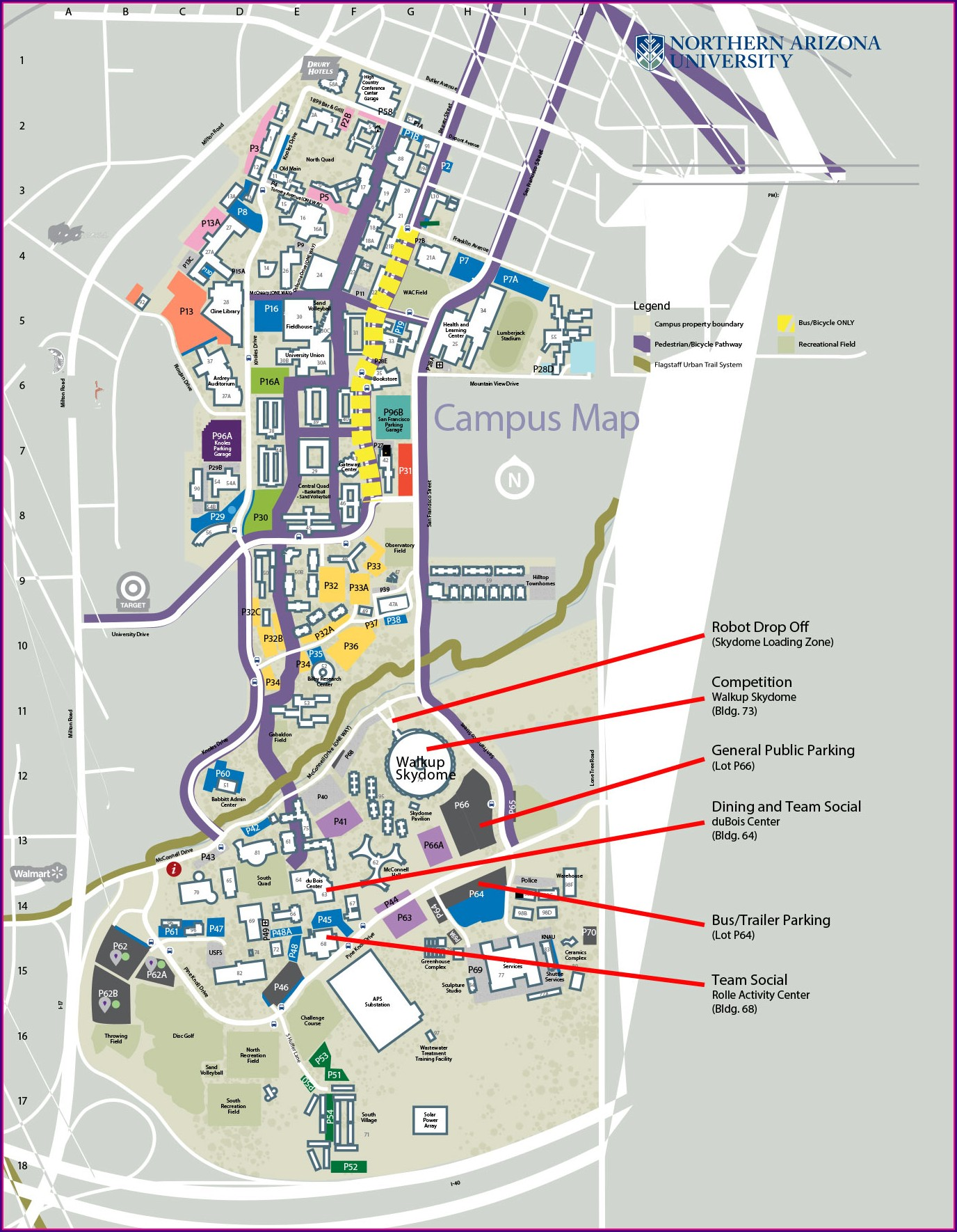 Nau Campus Map 2019