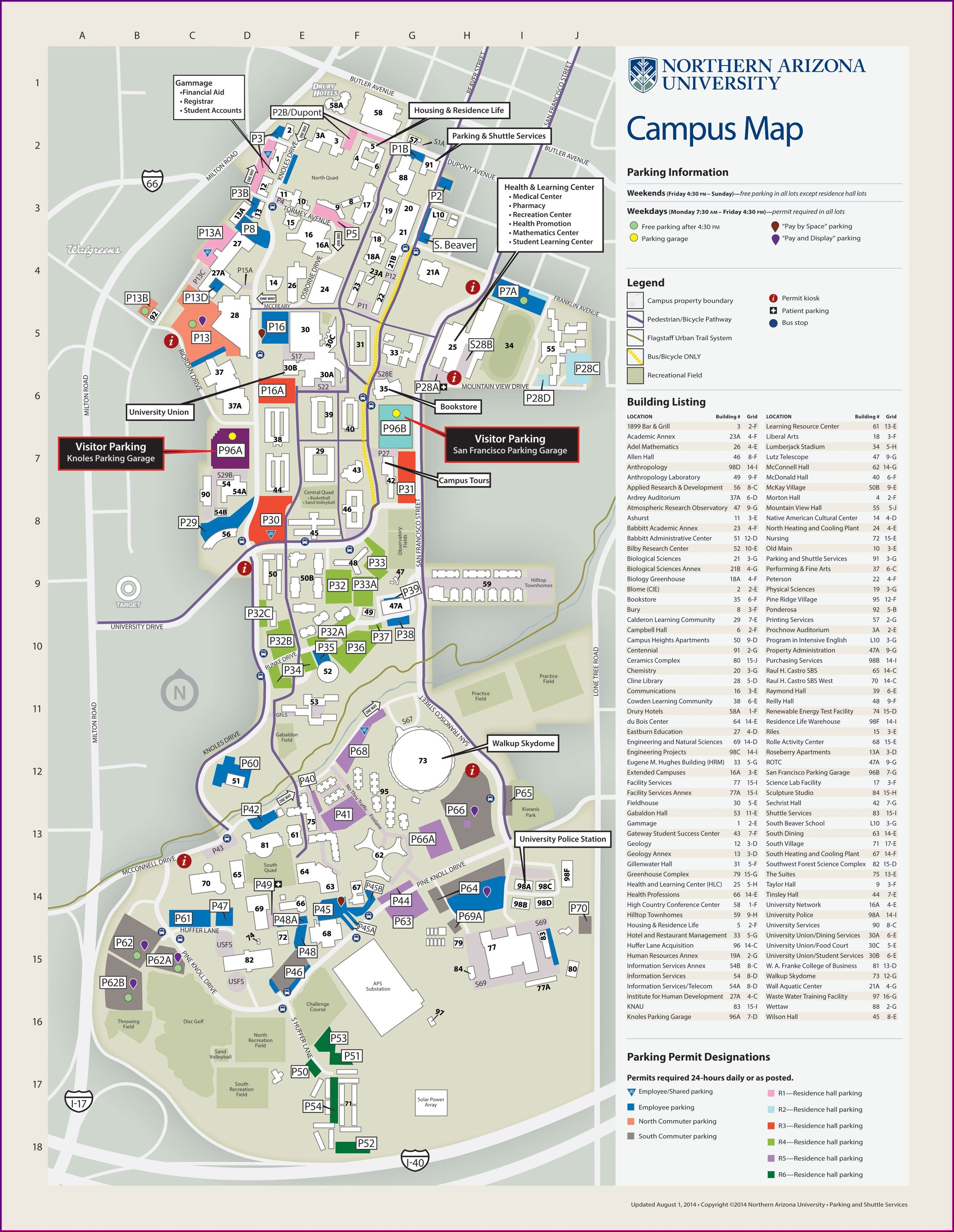 Nau Campus Map Interactive