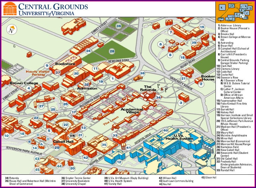 Nau Campus Map Printable