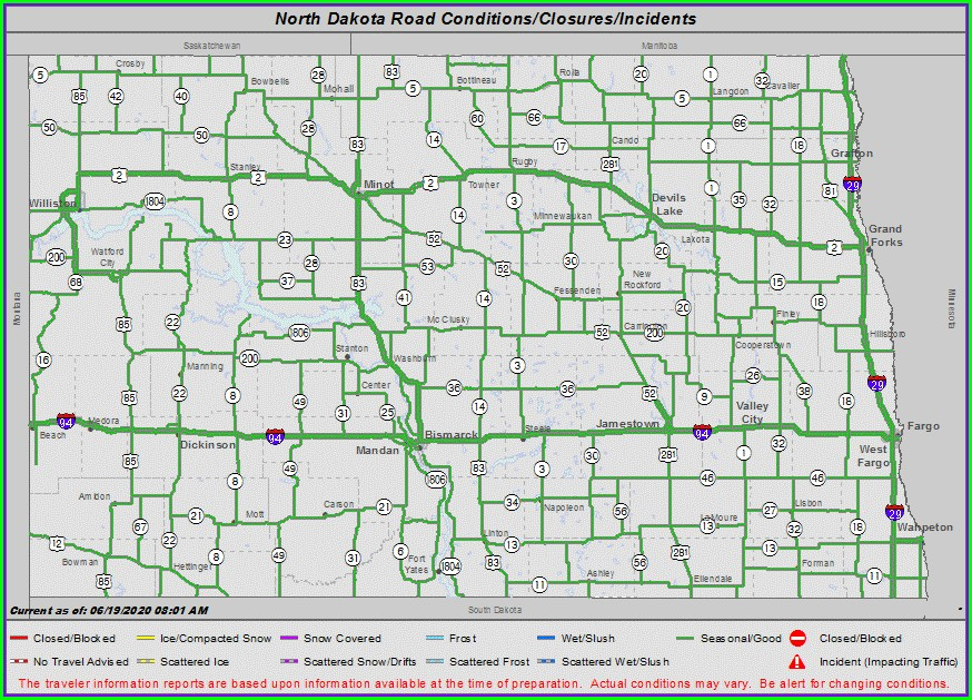 Nddot Road Conditions Map