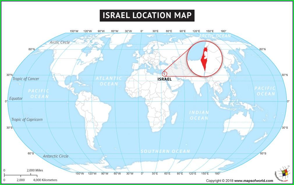 Negev Desert On World Map