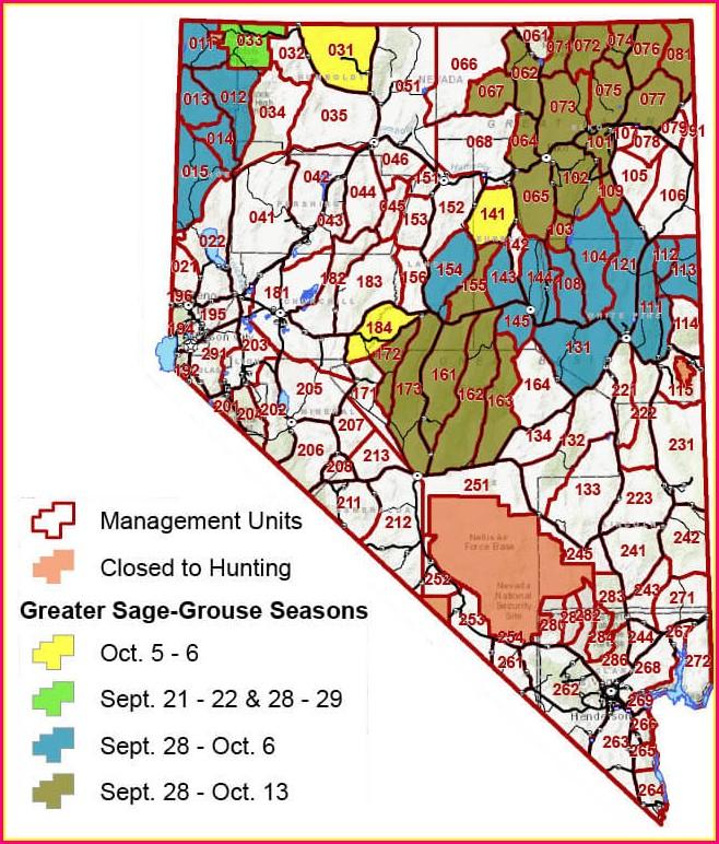 Nevada Hunt Unit Map 2020