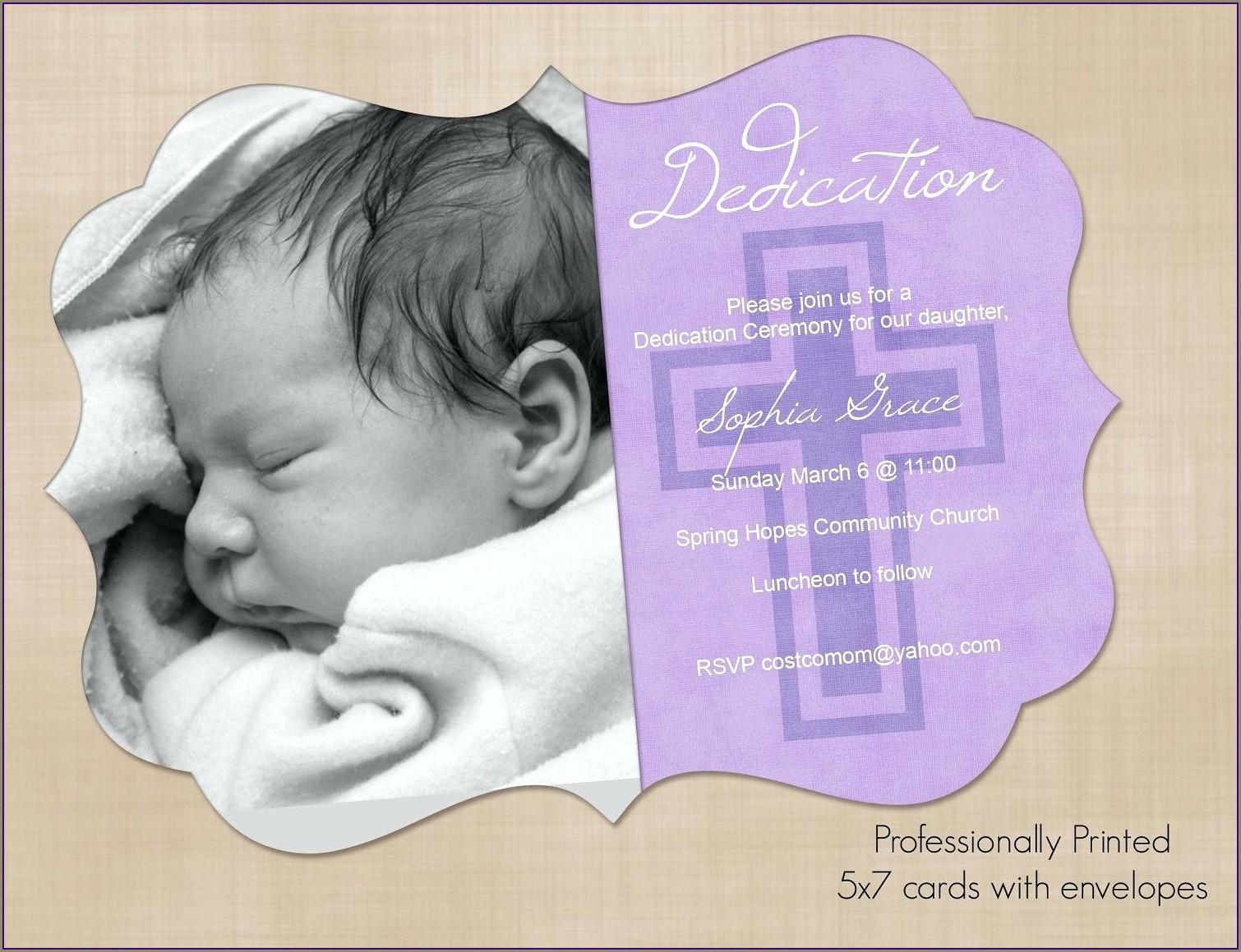 New Church Dedication Invitation Sample Cards