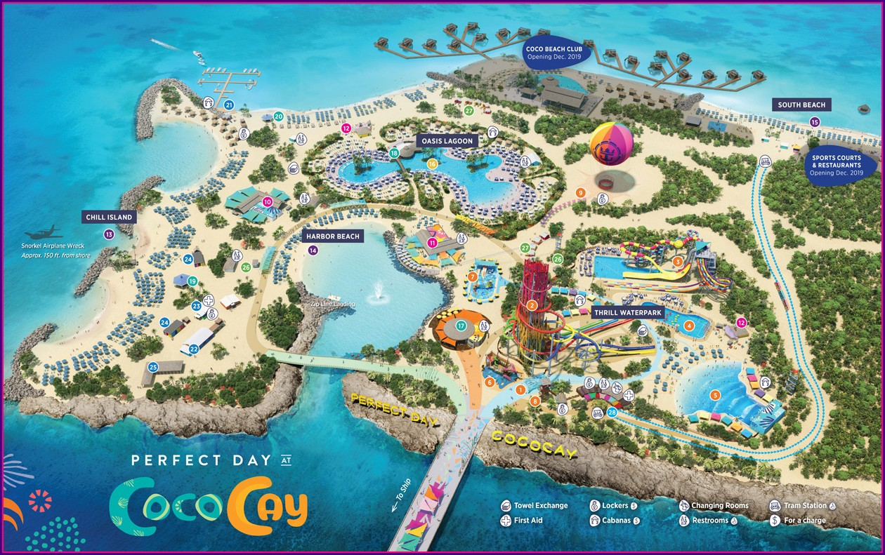 New Coco Cay Map