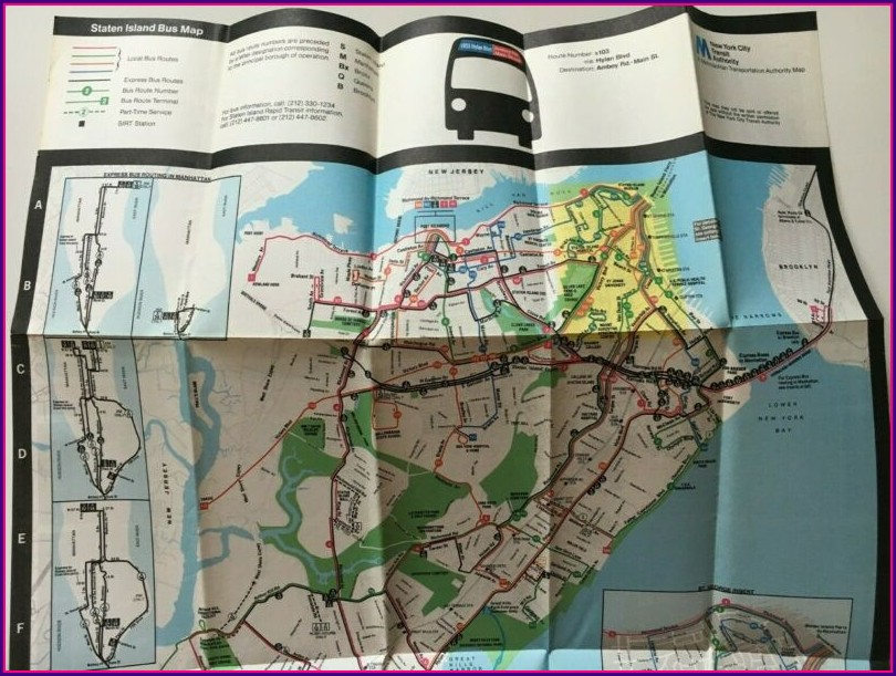 New Staten Island Bus Map