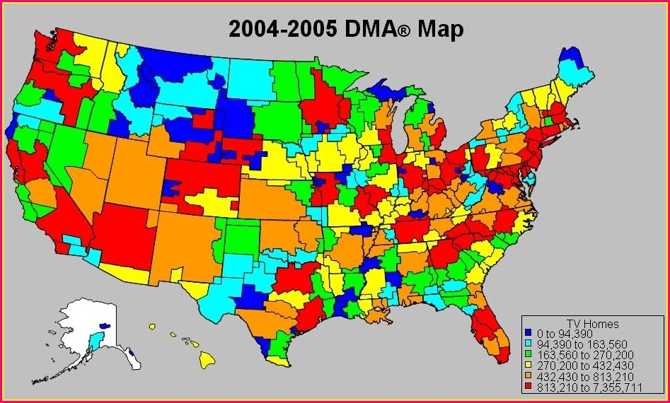 Nielsen Dma Map Of Usa