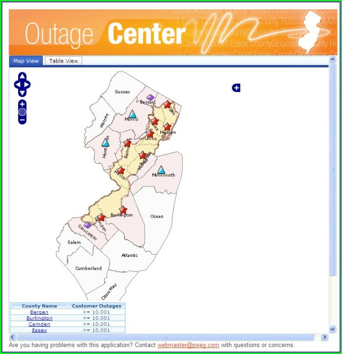 Nj Power Outage Map Pseg