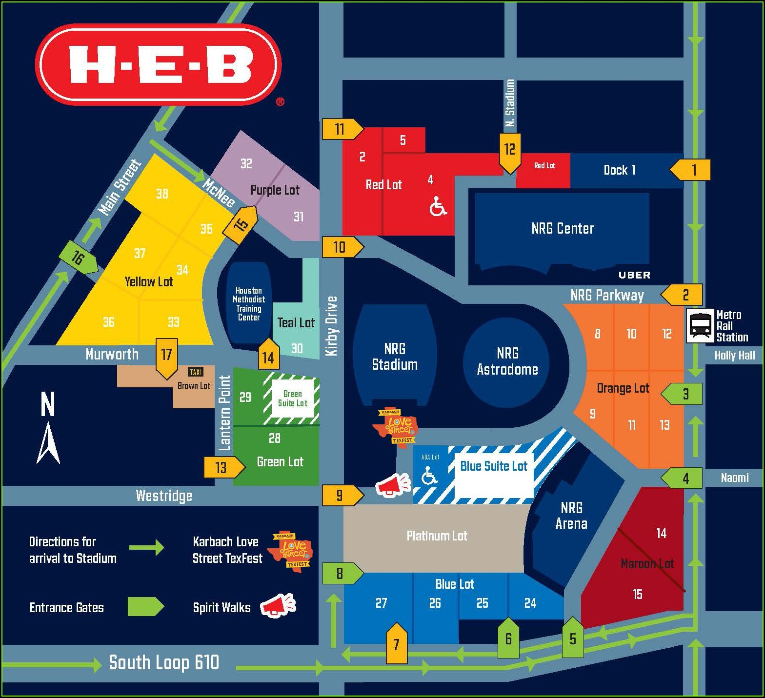 Nrg Stadium Entrances Map
