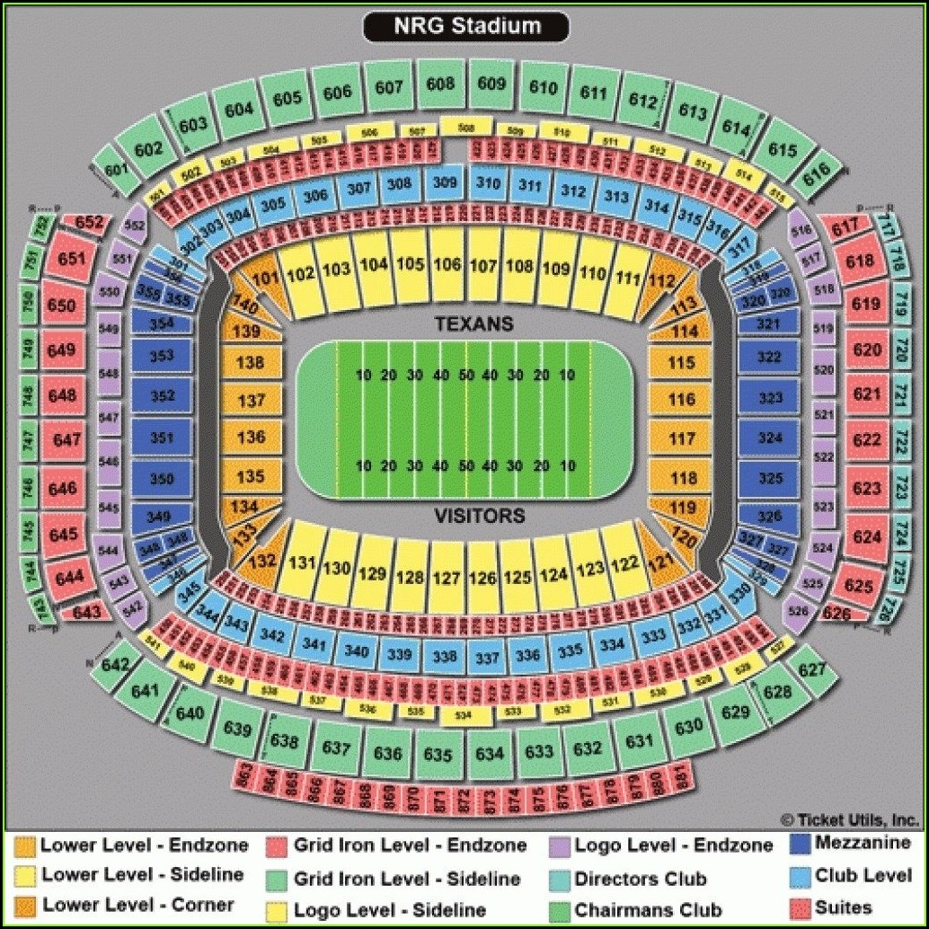 Nrg Stadium Map Rows