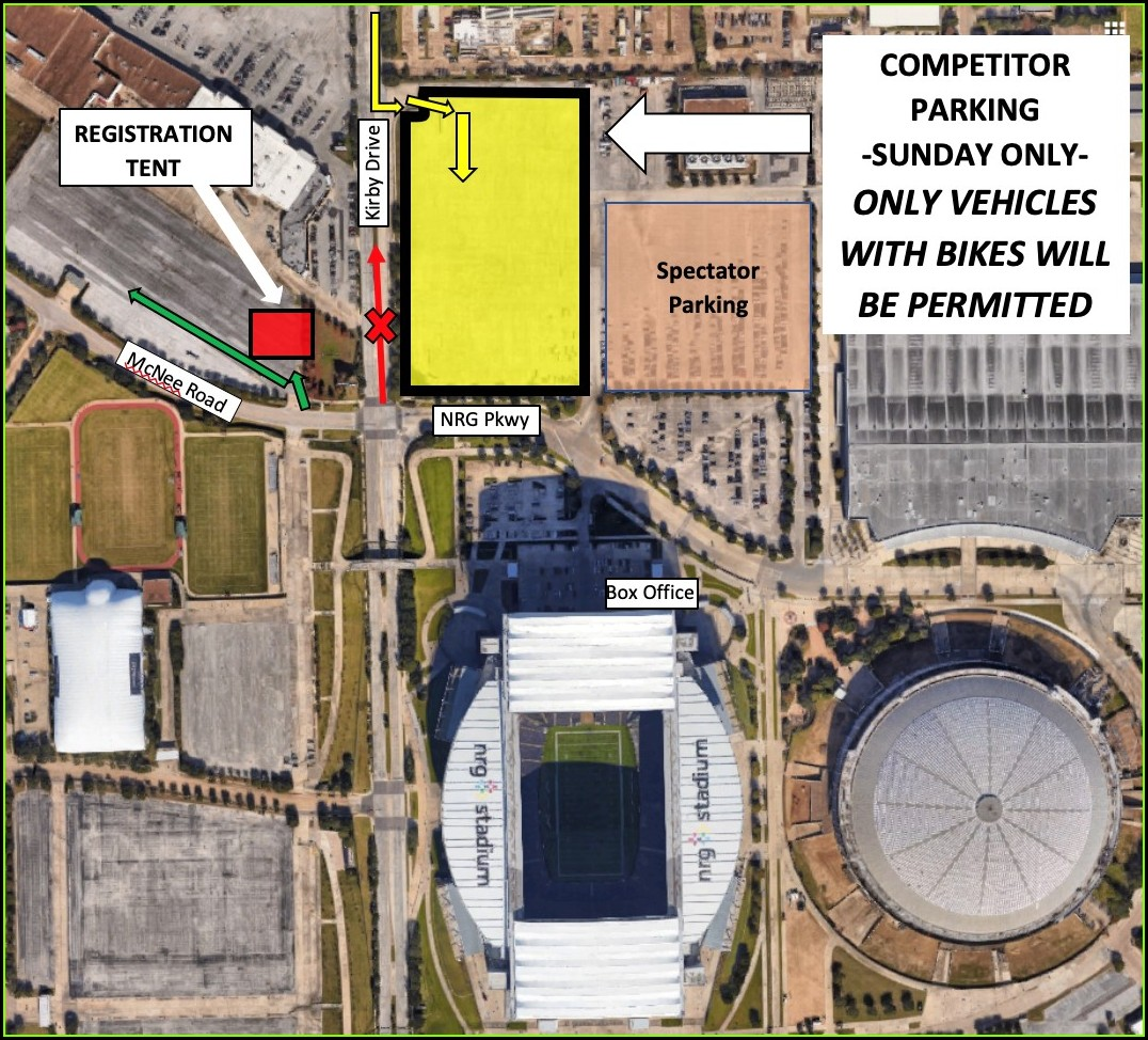 Nrg Stadium Parking Lot Map