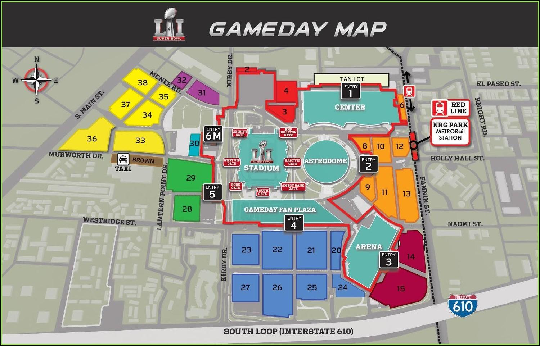 Nrg Stadium Parking Map