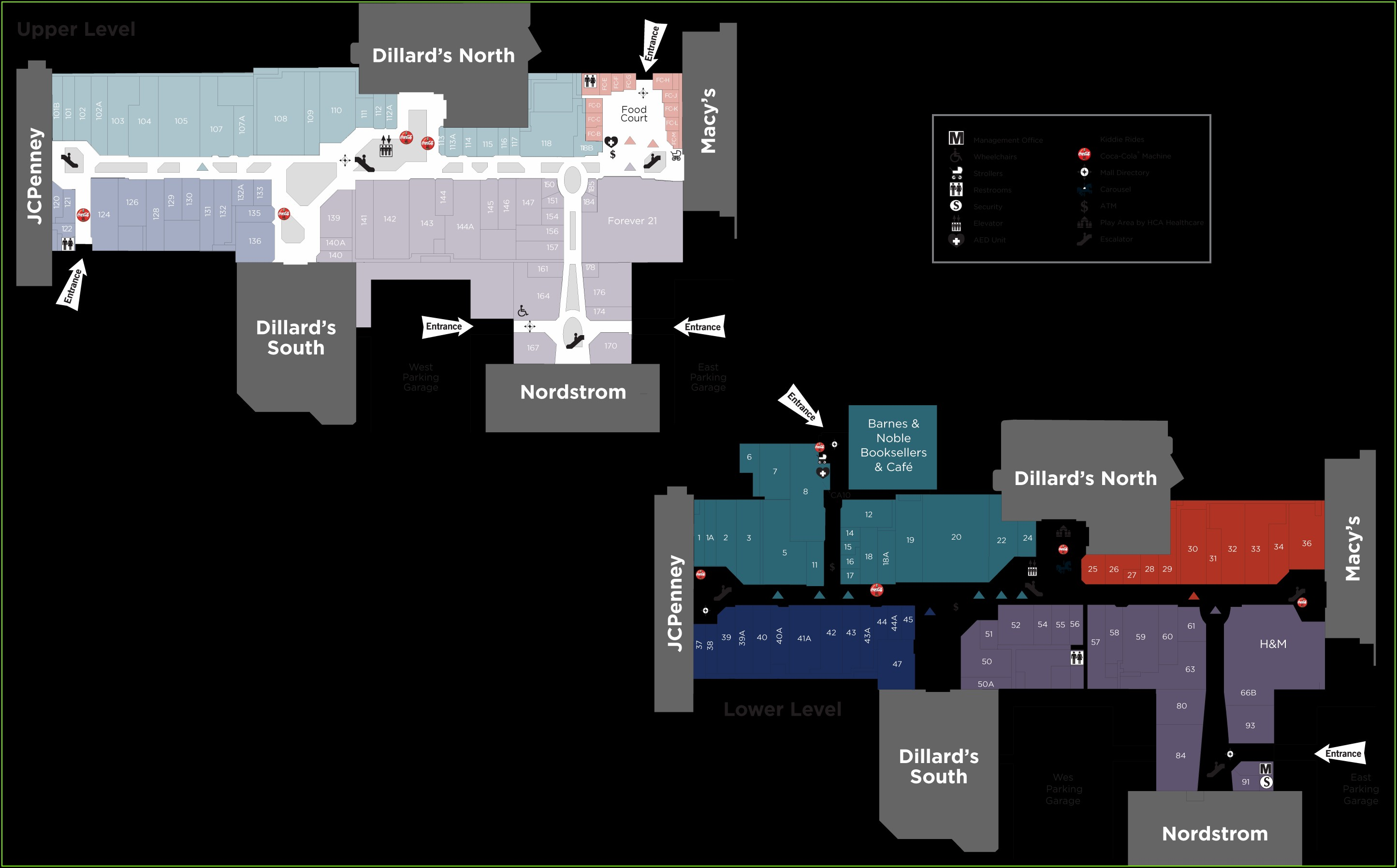 Oakbrook Mall Map Zara