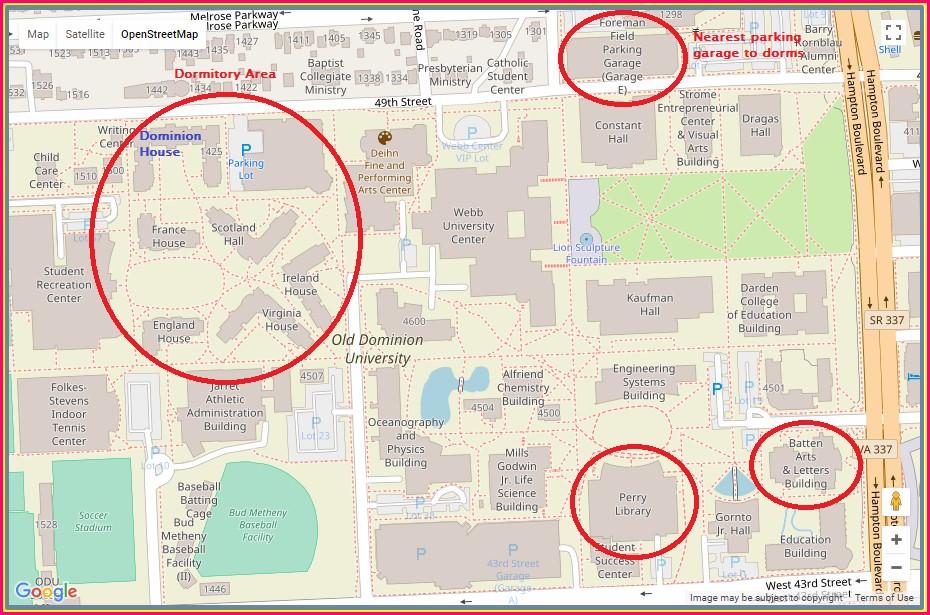 Odu Campus Map 2018