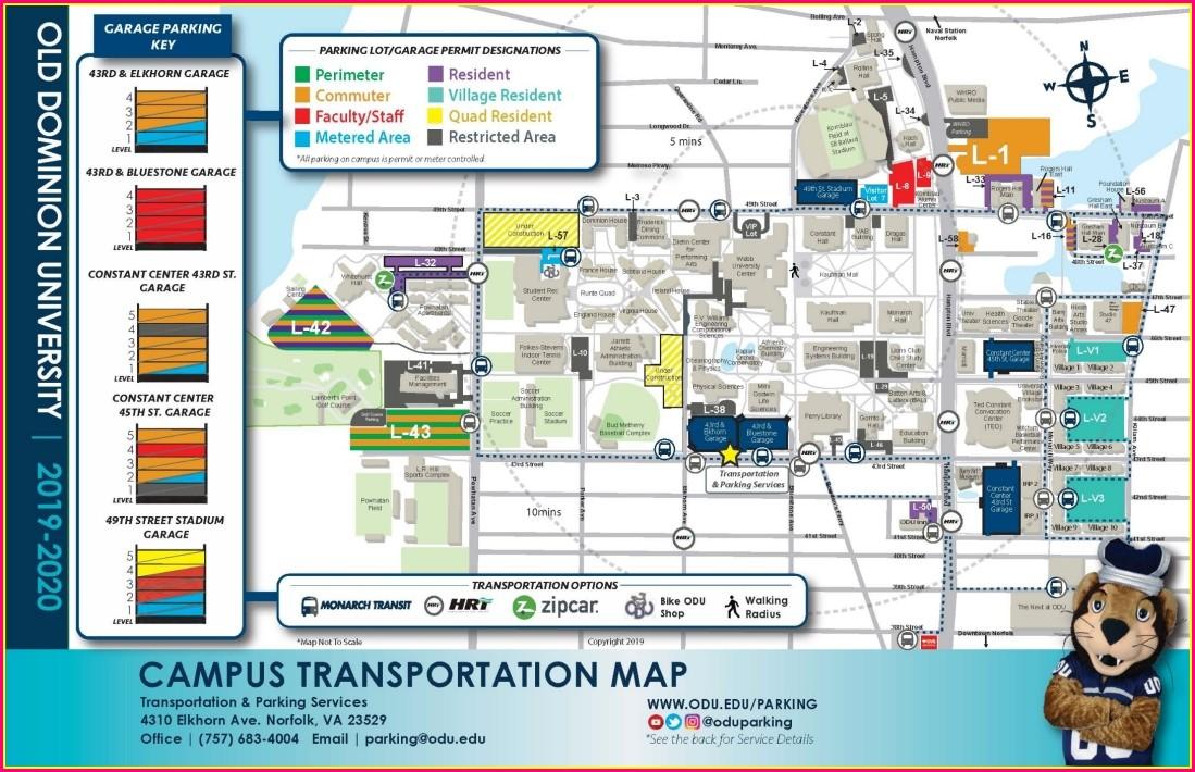 Odu Campus Map 2019