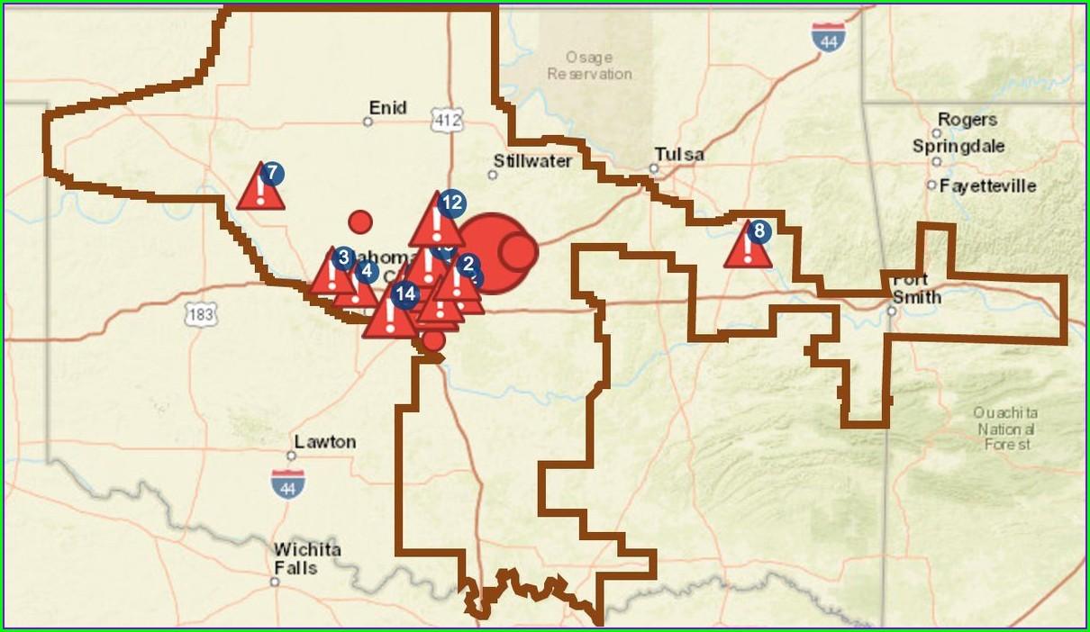 Oge Power Outage Map Oklahoma