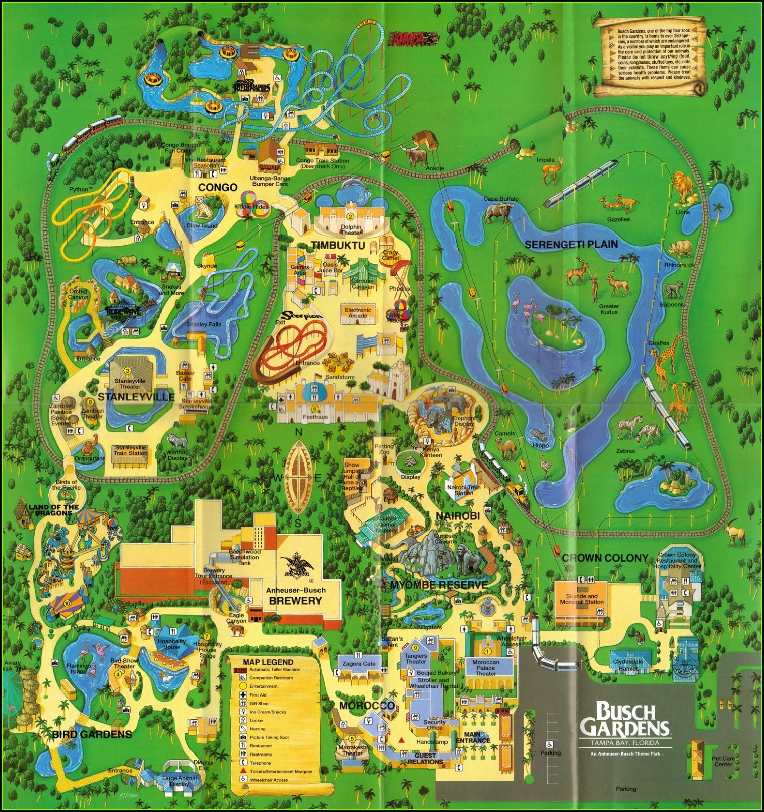 Old Busch Gardens Williamsburg Map