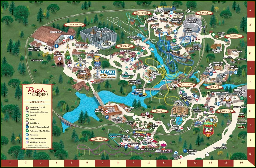 Old Busch Gardens Williamsburg Maps