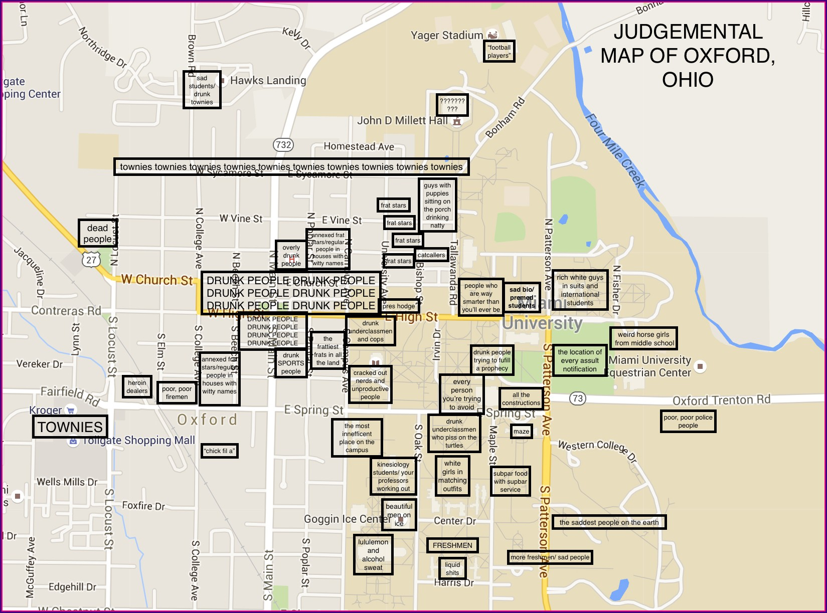 Ole Miss Campus Map Labeled
