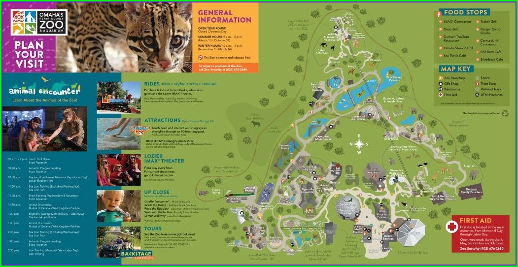 Omaha Henry Doorly Zoo Map 2019
