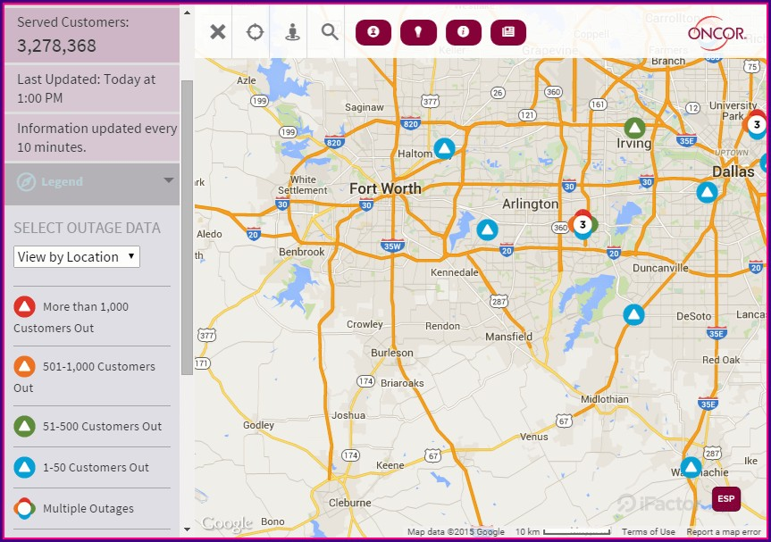 Oncor Power Outage Map Tyler
