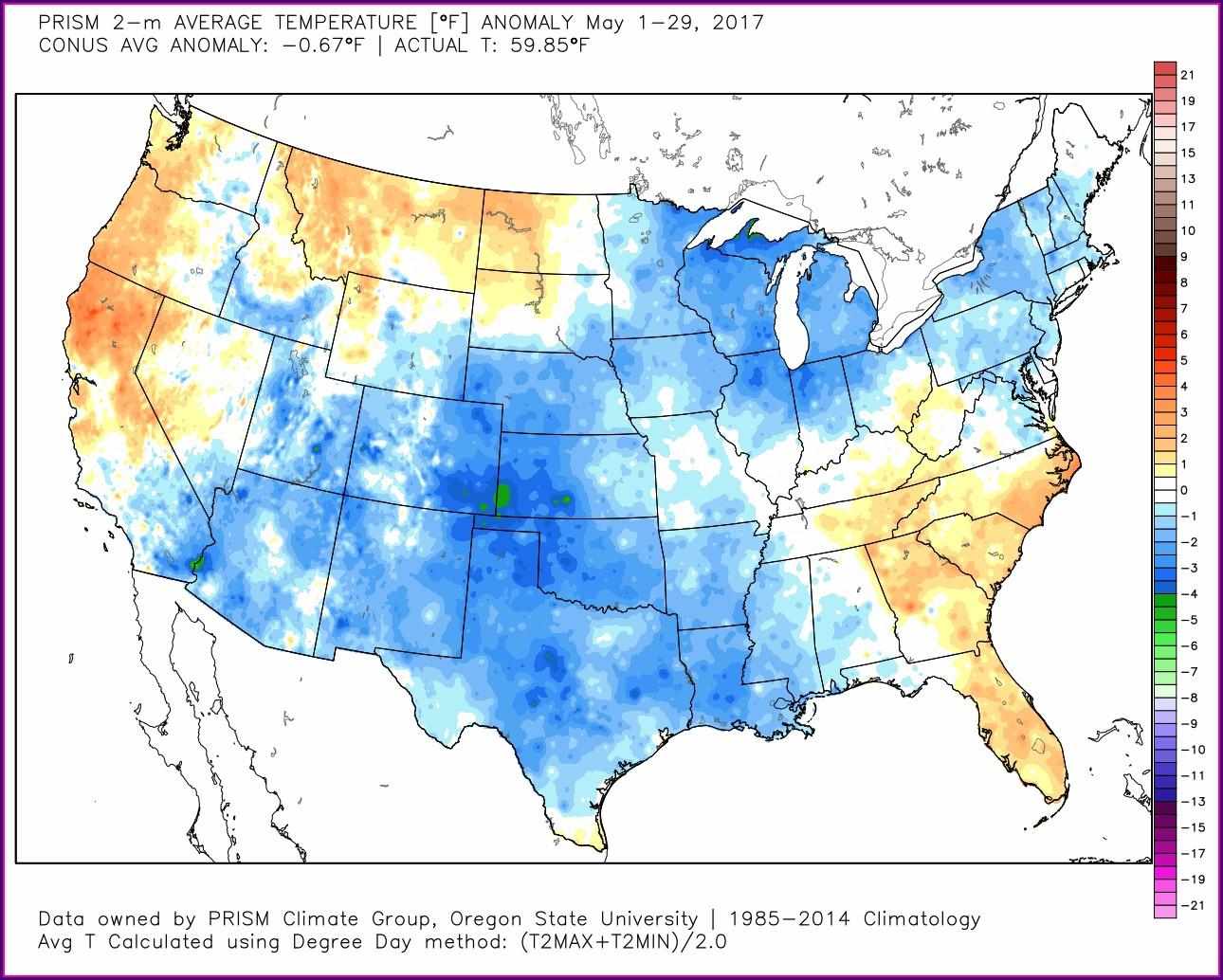 Oregon Weather Map Temps