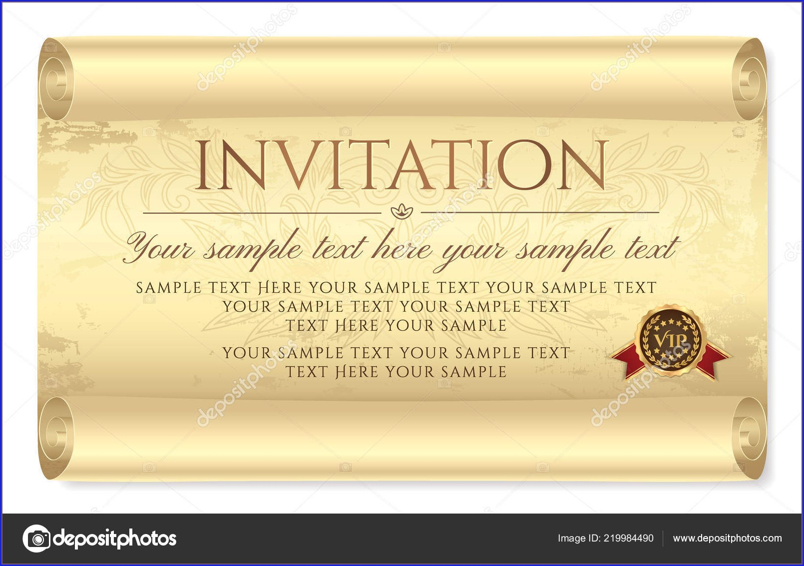 Parchment Paper Scroll Invitations