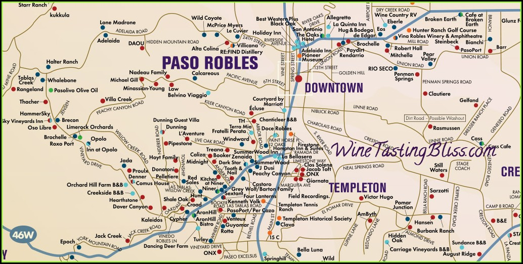 Paso Robles Winery Map 2019