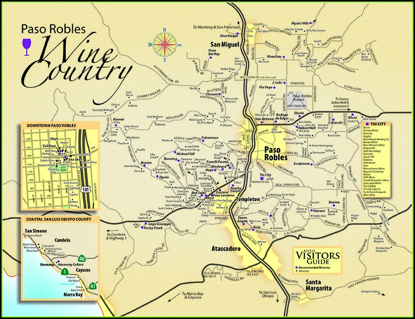Paso Robles Winery Map Printable