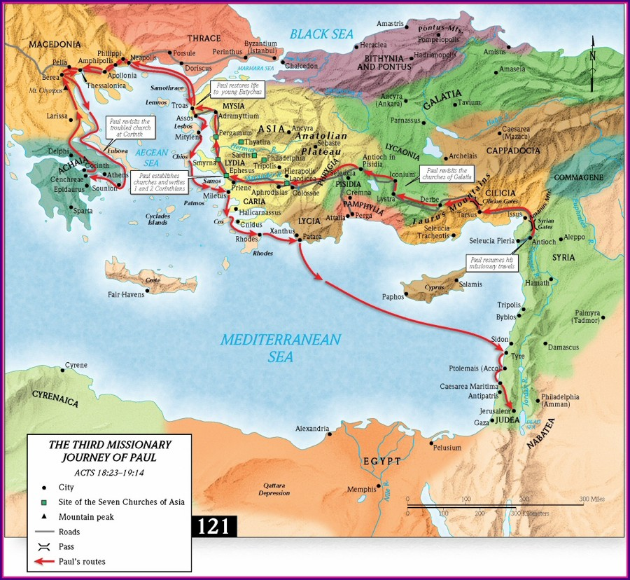 Pauls 3rd Missionary Journey Map