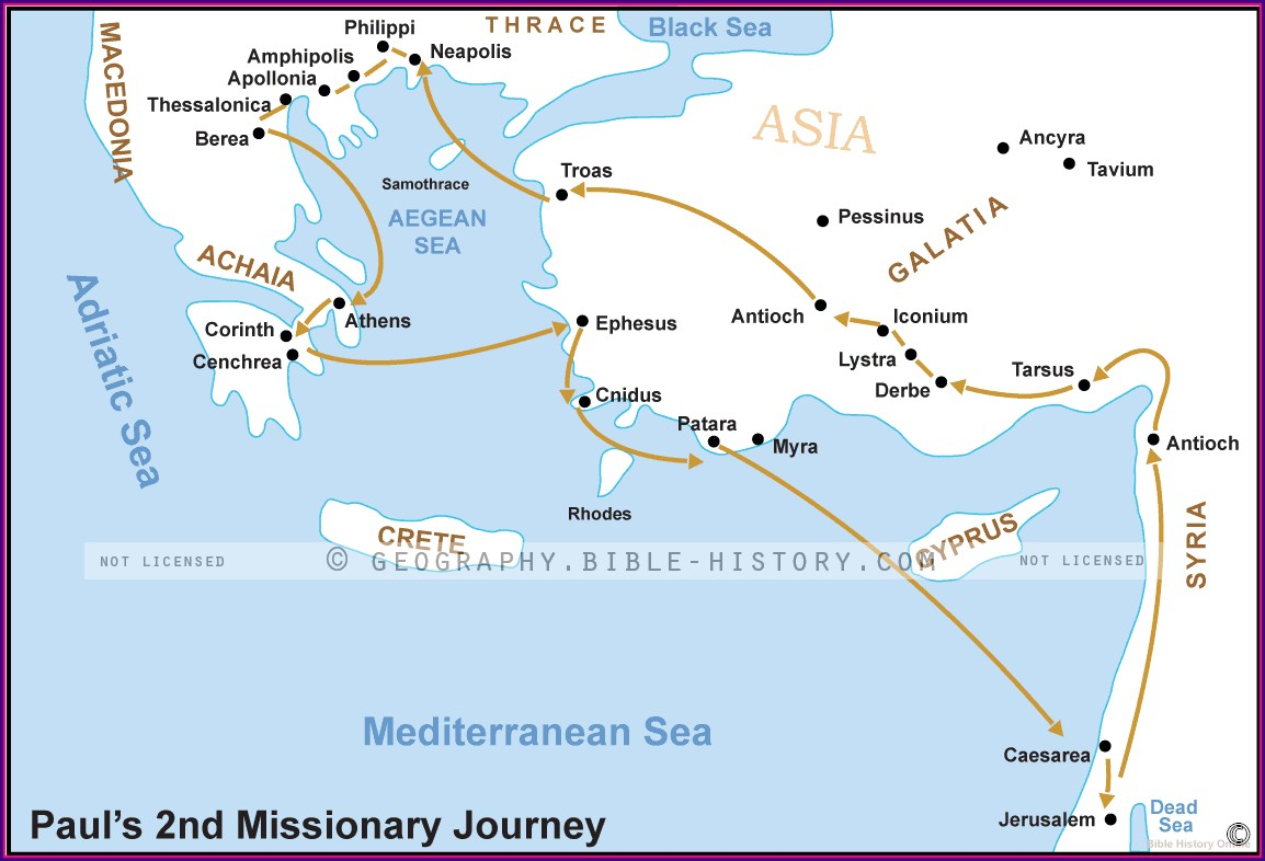 Pauls Missionary Journey Map